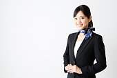 portrait of asian businesswoman isolated on wthie background
