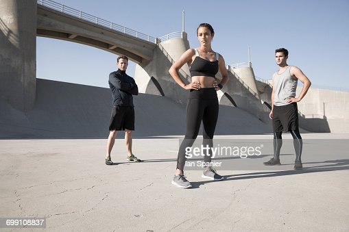 'Portrait of athletes, Van Nuys, California, USA'