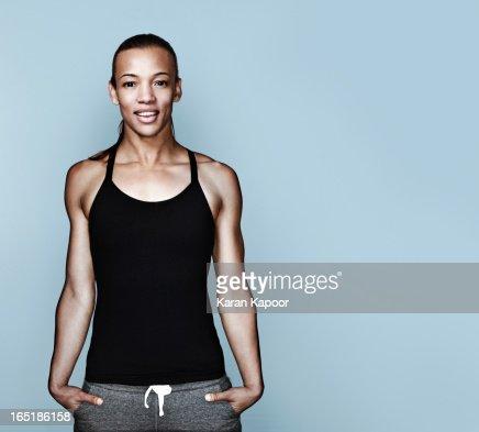 Portrait Of Athletic Female
