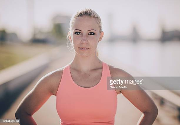 Portrait of athletic woman outdoor