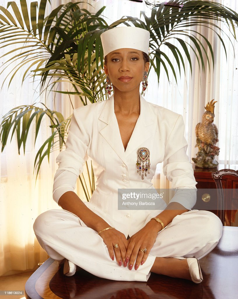 Portrait of <a gi-track='captionPersonalityLinkClicked' href=/galleries/search?phrase=Attallah+Shabazz&family=editorial&specificpeople=5363978 ng-click='$event.stopPropagation()'>Attallah Shabazz</a>, daughter of civil rights figures Dr. Betty Shabazz and Malcolm X, late twentieth century.