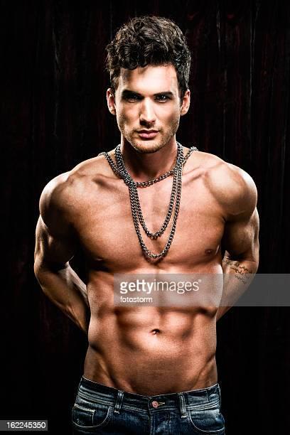 Portrait of attractive male fashion model