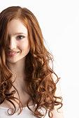 Portrait Of Attractive Teenage Girl In Studio