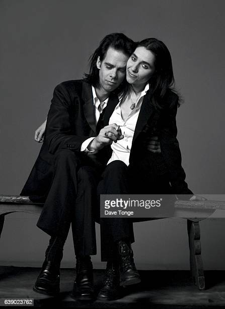 Portrait of Australian singersongwriter Nick Cave and English singersongwriter PJ Harvey to promote their duet 'Henry Lee' from the album 'Murder...