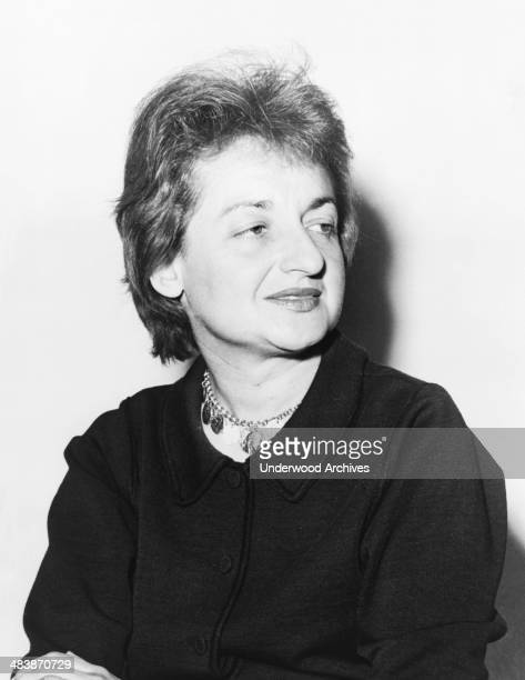 A portrait of author activist and feminist Betty Friedan the founder of the National Organization for Women 1960
