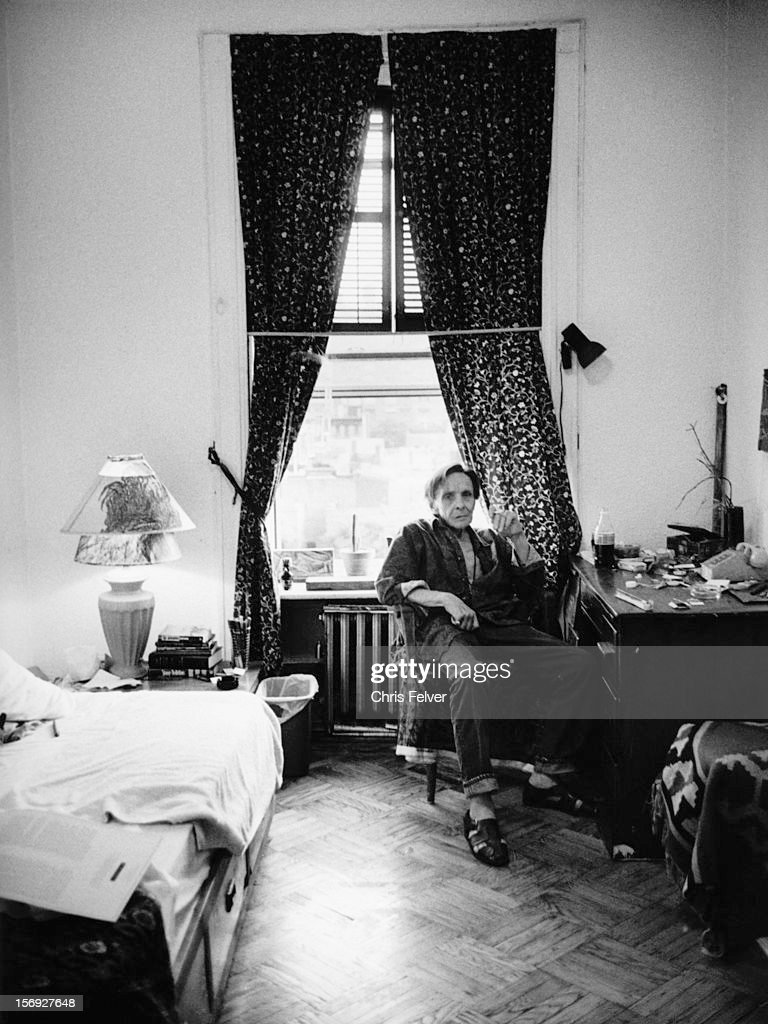 Portrait of author Herbert Huncke in his room at the Chelsea Hotel, New York, New York, 1995.