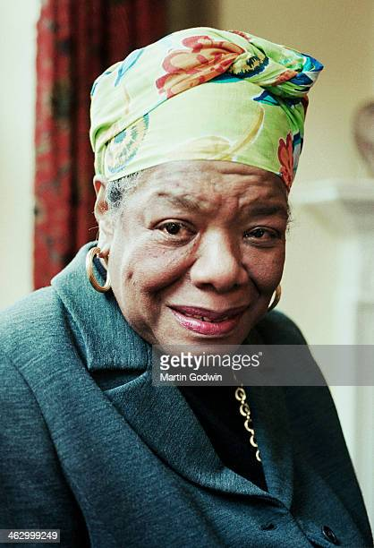Portrait of author Maya Angelou London 4th June 1999