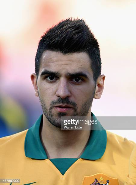 A portrait of Aziz Behich of Australia ahead of the 2018 FIFA World Cup Qualifier match between Kyrgyzstan and the Australian Socceroos at Dolen...