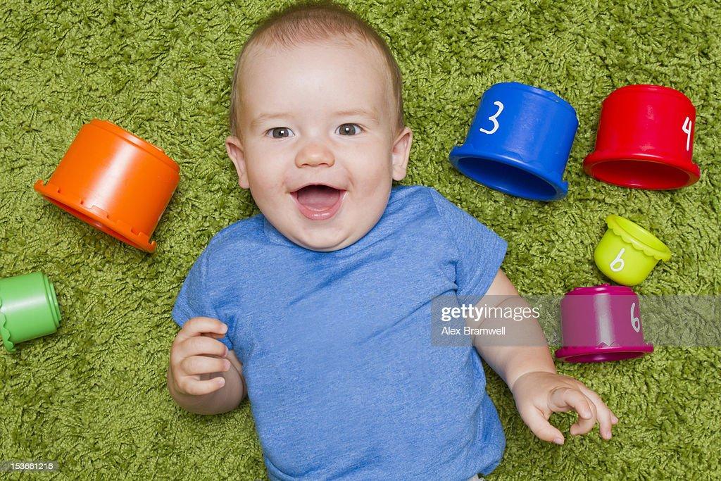 Portrait of baby boy : Stock Photo