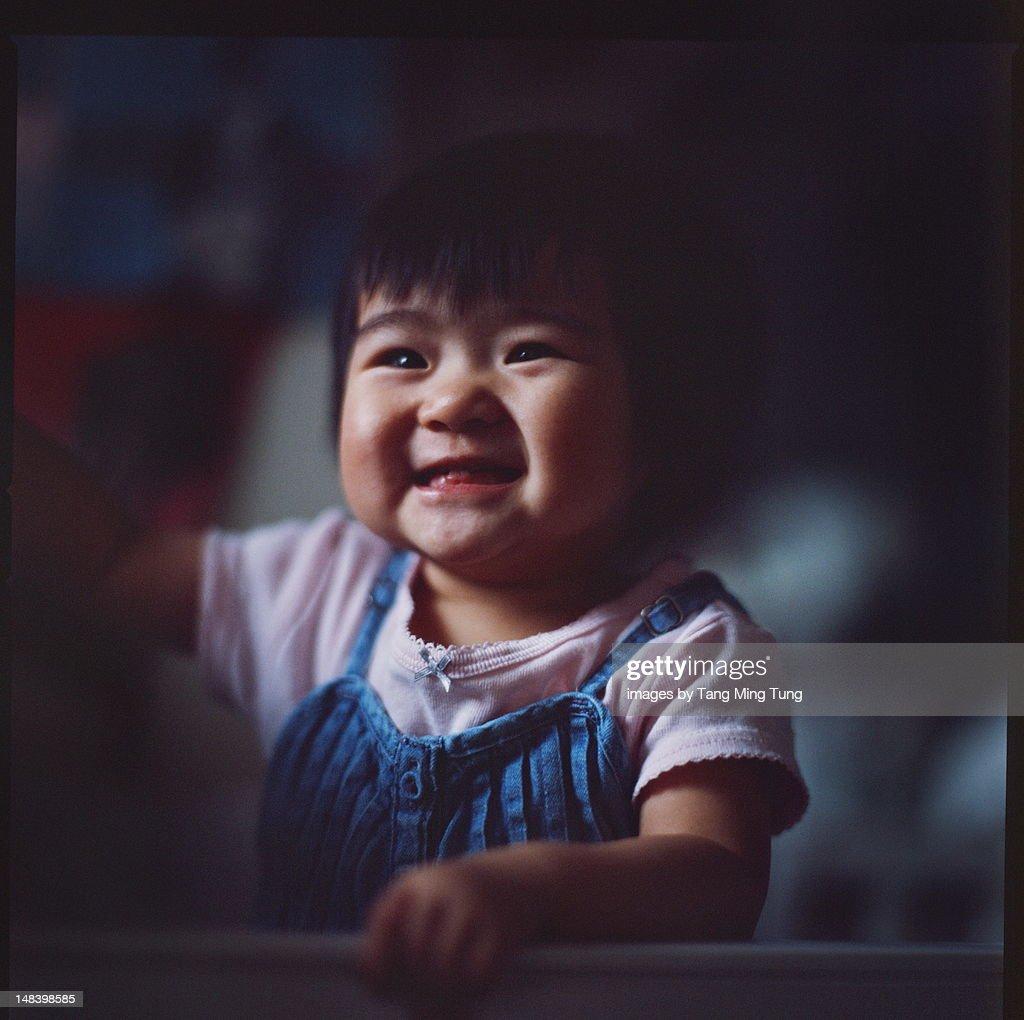 Portrait of baby girl : Stock Photo