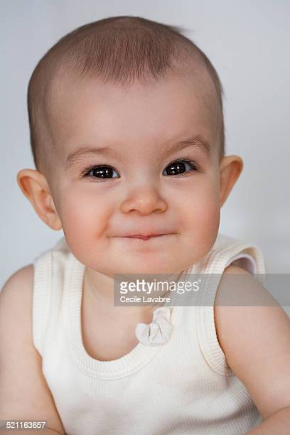 Portrait of baby laughing