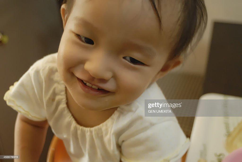portrait of baby : Stock Photo