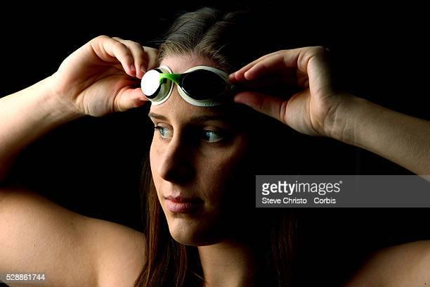 Portrait of Backstroker Belinda Hocking at the Brisbane Aquatic Centre Brisbane Australia Sunday 6th April 2014