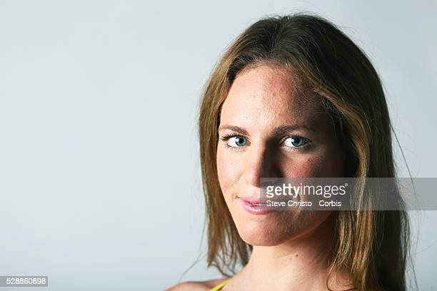 Portrait of Backstroker Emily Seebohm at the Brisbane Aquatic Centre Brisbane Australia Sunday 6th April 2014