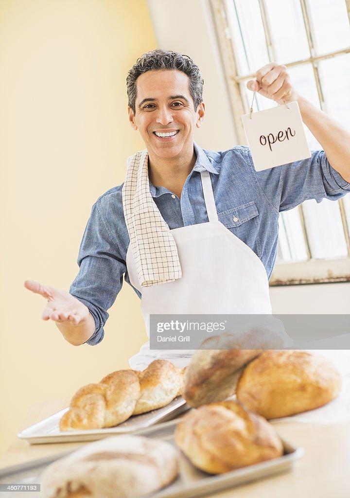 Portrait of baker : Stock Photo