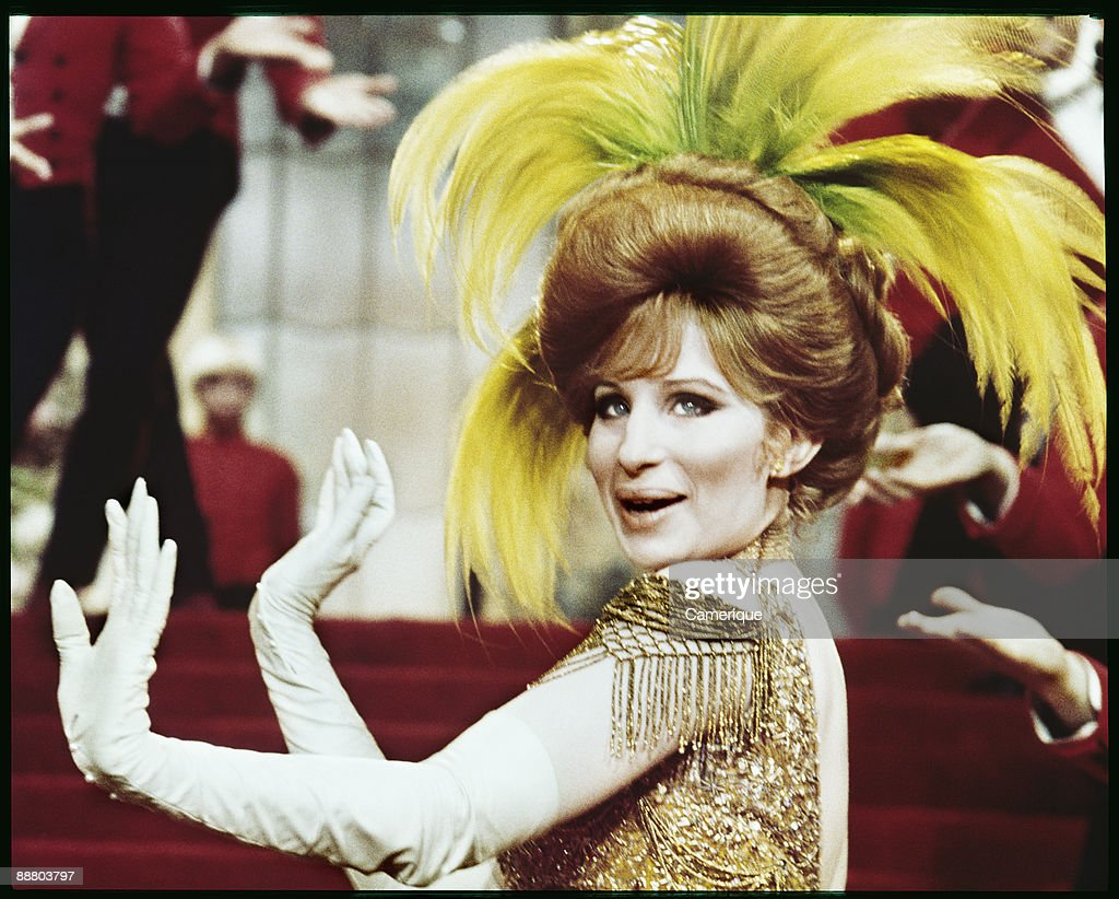Portrait of Barbra Streisand from the movie 'Hello Dolly!', 1969.