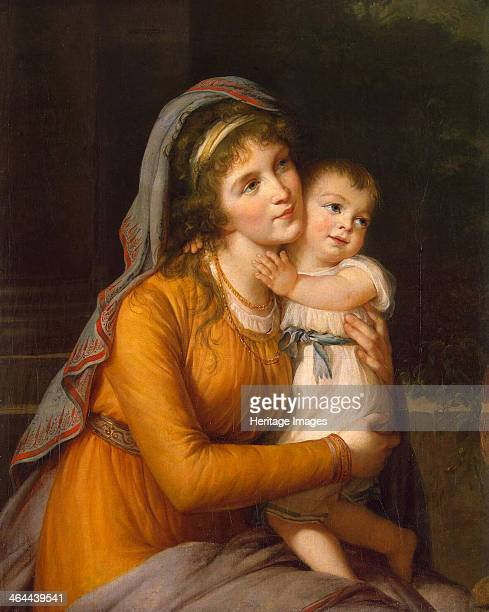Portrait of Baroness Anna Sergeyevna Stroganova with Her Son c 1800 Found in the collection of the State Hermitage St Petersburg