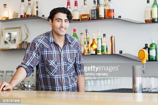 Portrait of bartender : Stock-Foto