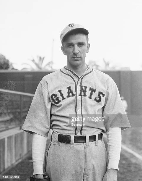 Portrait of baseball player Carl Hubbell of the Giants in uniform