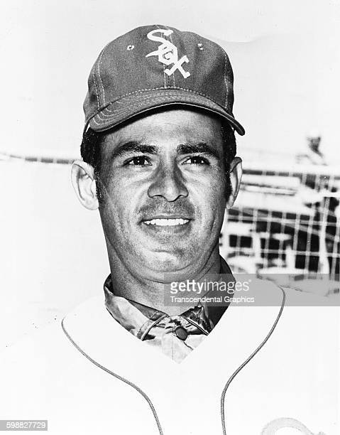 Portrait of baseball player Luis Aparicio of the Chicago Whites Sox as he poses during spring training Sarasota Florida 1967