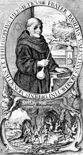Portrait of Basil Valentine an alchemist author and possibly Canon of the Benedictine Priory of Saint Peter in Erfurt Dated 15th Century