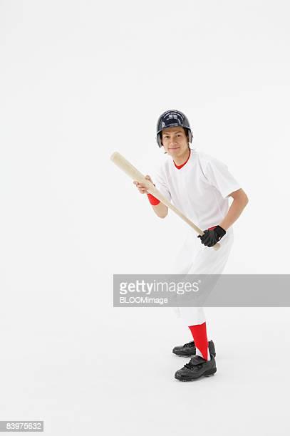 Portrait of batter, studio shot