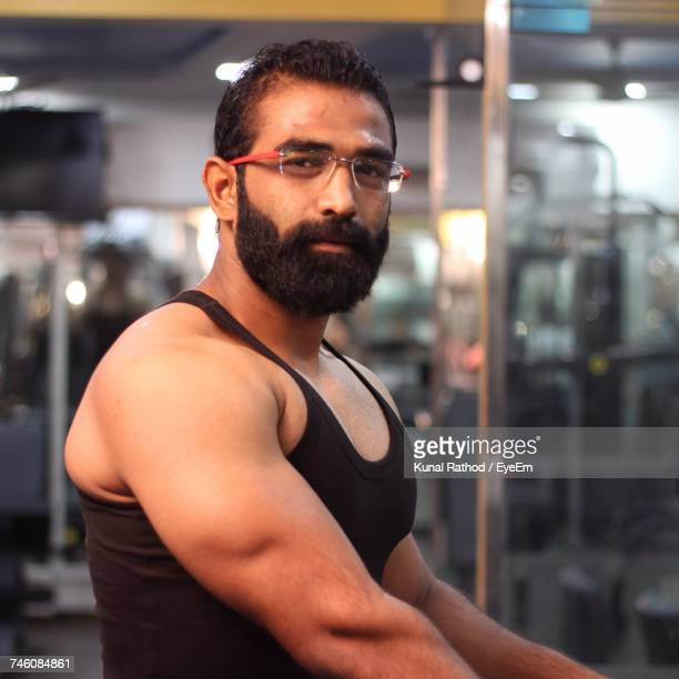 Portrait Of Bearded Man In Gym