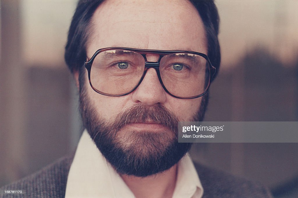 portrait of bearded man with large glasses : Stock Photo