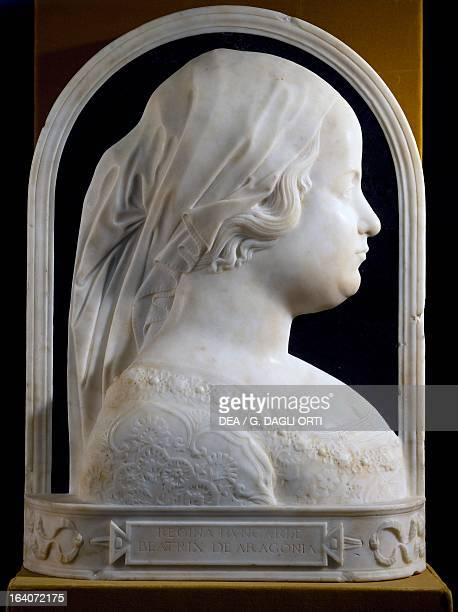 Portrait of Beatrice of Aragon Queen of Hungary Marble relief Lombard school 15th century Budapest Magyar Nemzeti Galeria