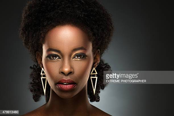 Portrait of beautiful black lady