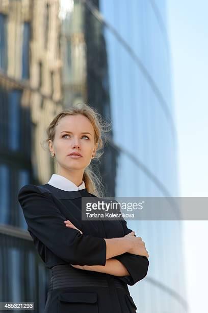 Portrait of beautiful blond businesswoman.