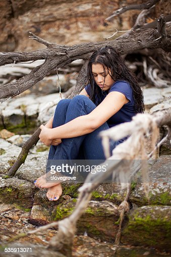 Portrait of beautiful female : Stock Photo