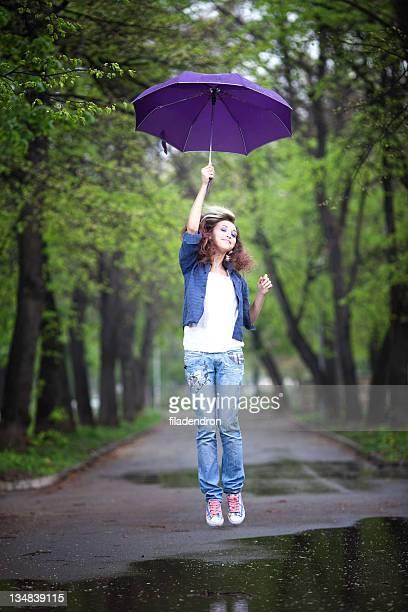 portrait of beautiful girl with umbrella