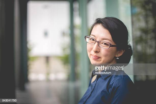 Portrait of Beautiful Japanese Businesswoman Entrepreneur, Kyoto, Japan