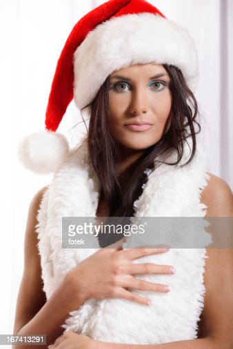 Portrait of Beautiful Santa : Stock Photo