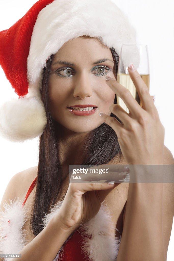 Porträt des schönen Santa : Stock-Foto