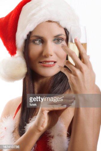 Ritratto di bella Santa : Foto stock
