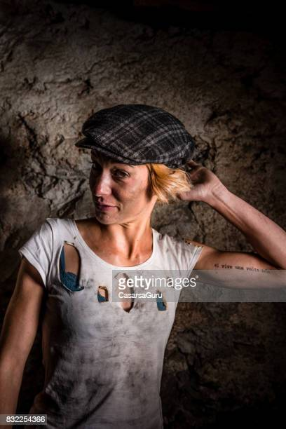 Portrait of Beautiful Young Blacksmith Woman