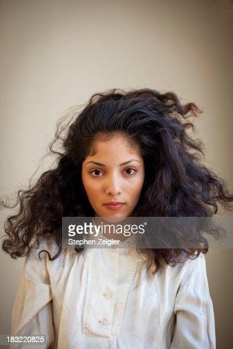 Portrait of beautiful young latina woman