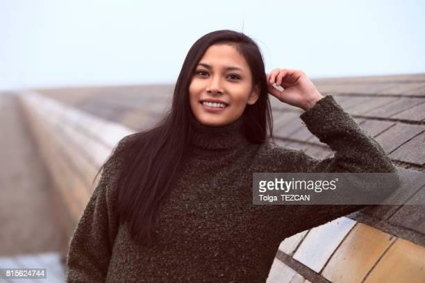 Portrait of beautiful young woman, Helsingborg