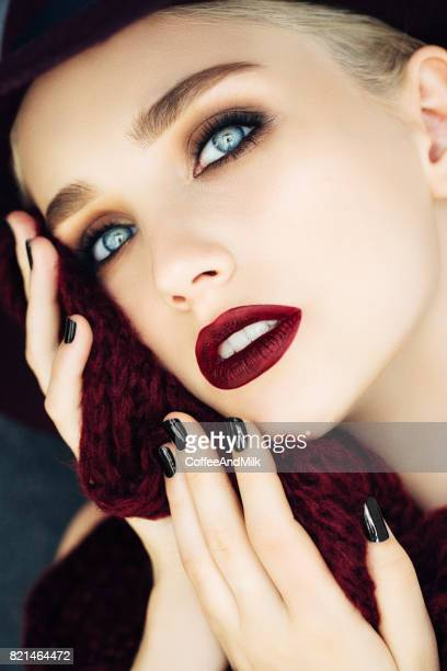 Portrait of beautiful young woman with fashion make-up