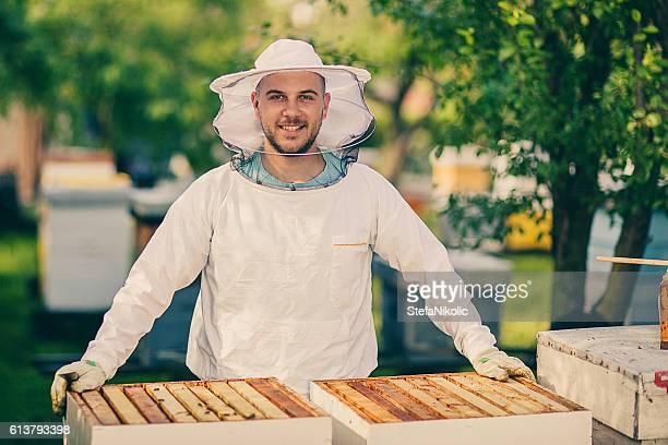 Portrait of beekeeper