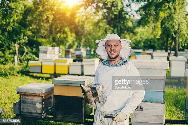 Portrait of beekeeper