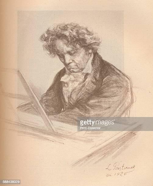 Portrait of Beethoven' 1920 From The Studio Volume 83 Artist Leonid Osipovich Pasternak