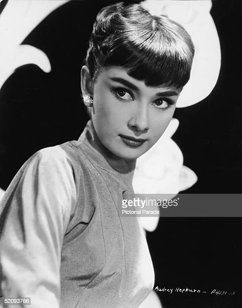 Portrait of Belgianborn American actress Audrey Hepburn as she looks to the side 1953