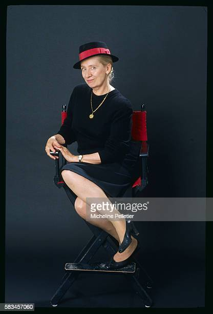 Portrait of Belgianborn French writer Francoise MalletJoris member of the literary Goncourt Academy between the release of La tristesse du cerfvolant...
