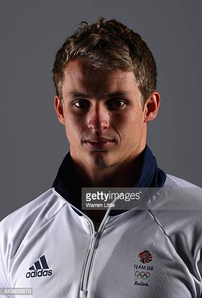 A portrait of Ben Proud a member of the Great Britain Olympic team during the Team GB Kitting Out ahead of Rio 2016 Olympic Games on June 29 2016 in...
