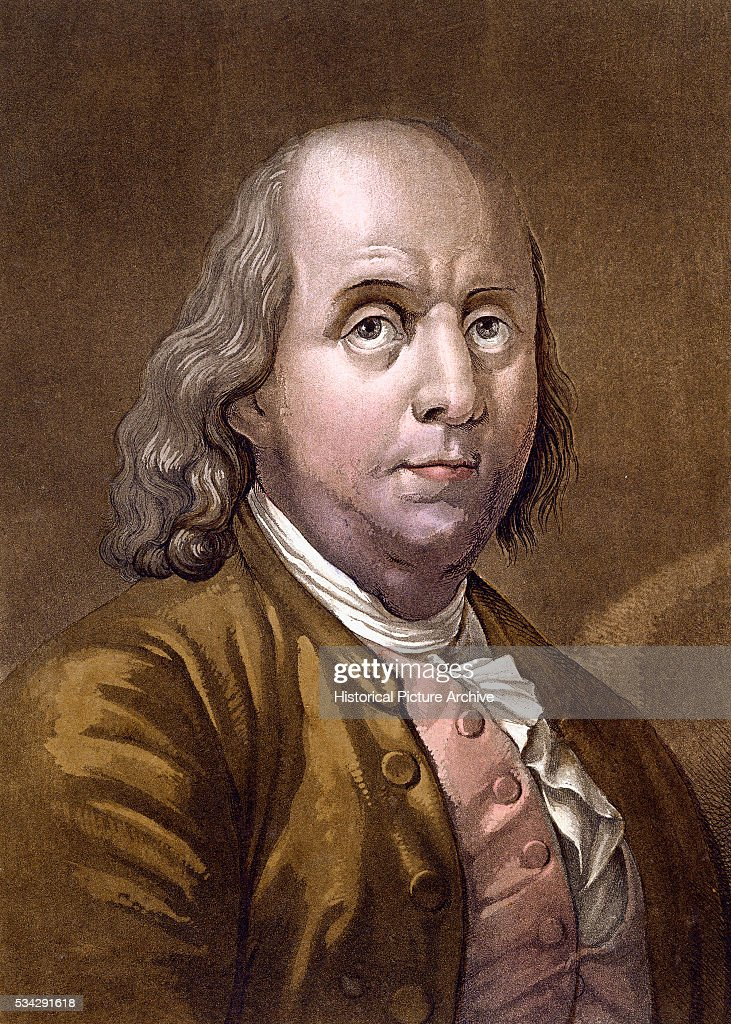 Portrait of <a gi-track='captionPersonalityLinkClicked' href=/galleries/search?phrase=Benjamin+Franklin&family=editorial&specificpeople=77750 ng-click='$event.stopPropagation()'>Benjamin Franklin</a> 19th Century Engraving