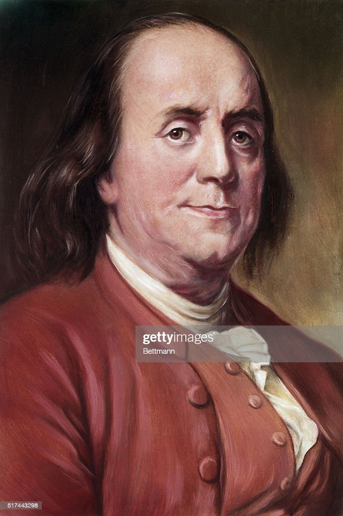 Portrait of <a gi-track='captionPersonalityLinkClicked' href=/galleries/search?phrase=Benjamin+Franklin&family=editorial&specificpeople=77750 ng-click='$event.stopPropagation()'>Benjamin Franklin</a> (1706-1790), from the painting by Joseph S. Duplessis.