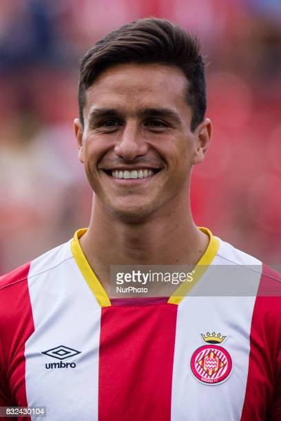 Portrait of Bernardo Espinosa from Spain of Girona FC during the Costa Brava Trophy match between Girona FC and Manchester City at Estadi de...